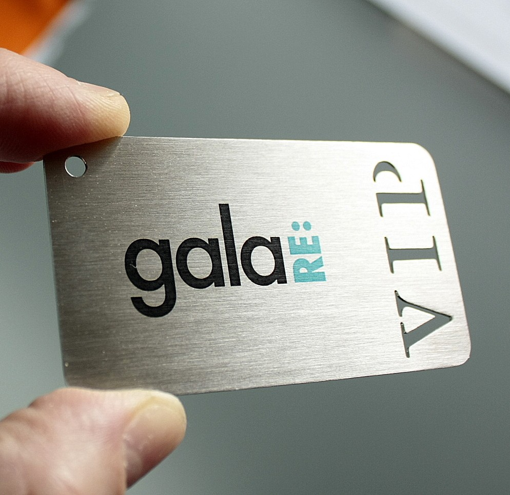 Metal VIP cards, metal business cards laser cut + laser engraving ...