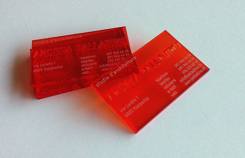 Acrylic transparent business cards. 1 or 3 mm thickness on acrylic ...