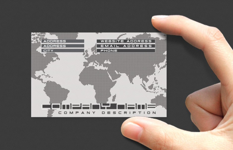 Plastic business cards clear business cards pvc business cards quick products reheart Choice Image