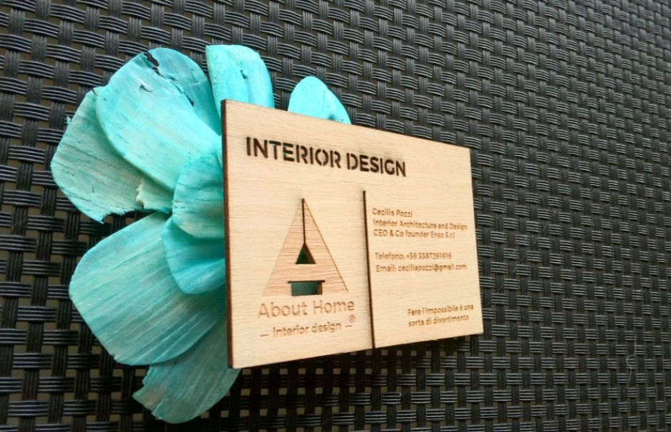 Wood Business Cards Laser Cut Engraved