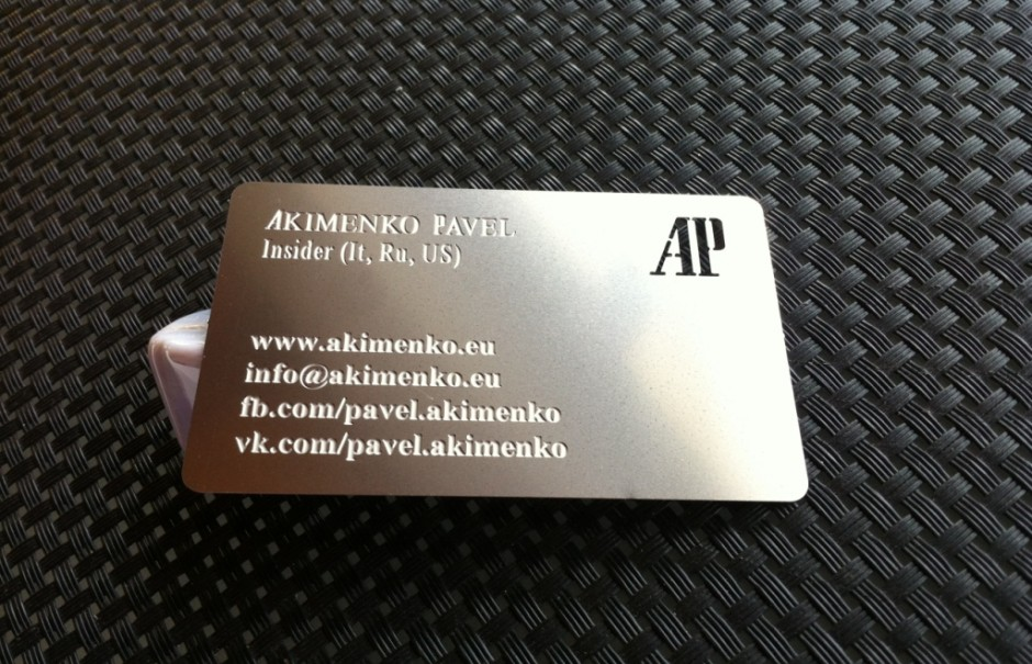Metal business cards, steel business cards AISI 301, cool business ...