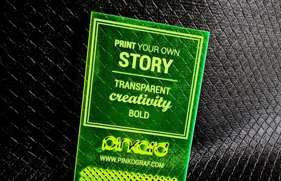 Fluorescent Acrylic Business Cards 3 Mm